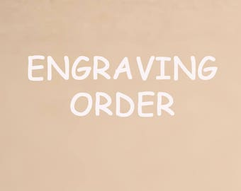 Engraving order,for engagement ring,wedding band