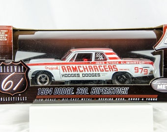 Ultra Rare Highway 61 1964 Dodge Superstock Ramchargers 1/18 Scale Diecast Car
