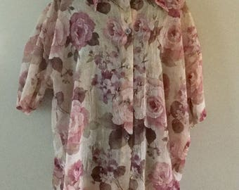 Wonderful Flowered Blouse by Horatio Collection plus plus size.