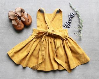 Mustard Pinafore Dress Made to Order