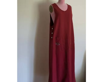 1990s david N. sport maxi with embroidered pockets