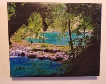 Paradise, Semuc Champey, Guatemala, handmade gift, Photo transfer, jungle, landscape, nature, nature photography, travel photography, gift
