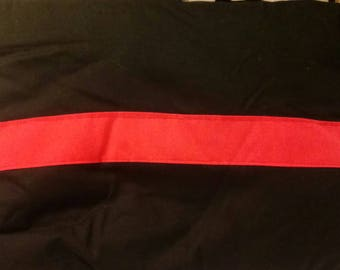 Firefighter thin red line pillow
