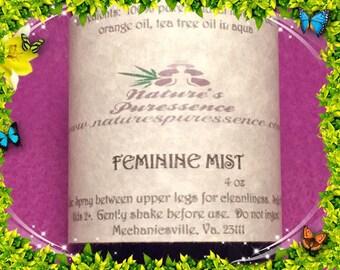 "Essential Oil Spray ""Feminine Mist"" Aromatherapy"