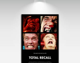 Movie Posters for Total Recall Art Print on Canvas Home Wall Decor