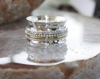 Meditation ring, spinner ring, spin ring, fidget ring, boho ring, sterling silver ring, prayer ring, wish ring, yoga ring, rings to meditate