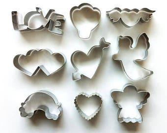 Valentine Cookie Cutter, Love Cutter, Rainbow Cutter, Cupid Cutter, Angel Cutter, Fondant Biscuit Mold, Pastry Baking Tool