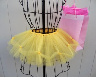 Beauty and the Beast TUTU Skirt for Girls Sizes 0-5T - Yellow. Matte Tulle -FREE SHIPPING!