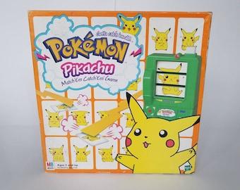 Vintage 90s Pokemon Pikachu Match Em Catch Em Game