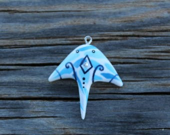 manta ray with crystals and decorations out of watereffectclay,underthesea,animal