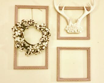 set of three empty frames lilac - Empty Picture Frame