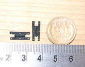 Dollhouse miniature brass hinges in 1:12 scale - CL-02  Classic Colonial Large H
