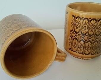 Retro late 60s  mug, geometric groovy pattern