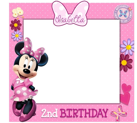 Fancy Minnie Mouse Frame Elaboration - Custom Picture Frame Ideas ...