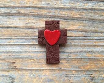Polymer Clay Cross Magnet