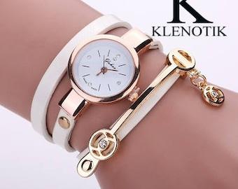 Women's Fashion Casual Jewelry Leather Quartz Watch