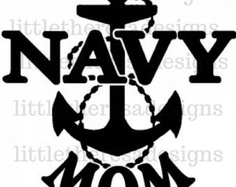 Navy Mom Transfer, Digital Transfer , Digital Iron On, DIY
