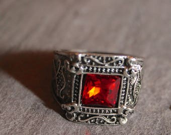 Mortal Instruments Isabelle Lightwood Ruby Ring ShadowHunter US 8 18.2mm
