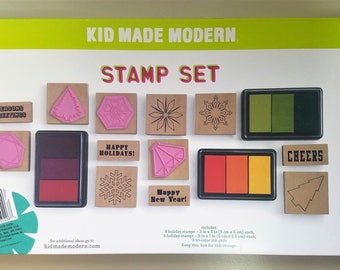 Kid Made Modern Stamp Set Holiday Craft Activity