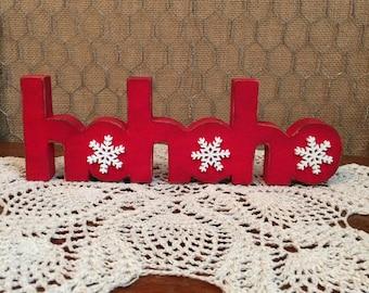 Christmas HoHoHo Wooden Sign