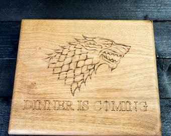 Game of Thrones Chopping Board, Dinner is Coming board, GOT chopping board, Game of Thrones gift, Dinner Time gift, GOT gift ideas, GOT gift