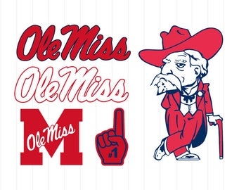 INSTANT DOWNLOAD - University of Mississippi Ole Miss Rebels Svg, University of Mississippi Ole Miss Rebels Svg Bundle, Ole Miss Rebels