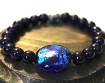 Blue Pendant Bracelet, Beaded Bracelet, Charm Bracelet, Women's Bracelet, Gift for her, Friendship Bracelet, Blue Bracelet, Summer Bracelet