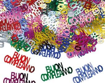 Plastic Confetti, table decoration, birthday, confetti, Greetings, pirates, green heart, gold, graduation