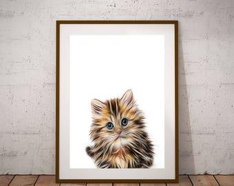Cat Poster-Cat Print-Digital Print-Funny Cat Print-Kitten Art Print-Cat Printable-Cat Print Poster-Large Print-Cat Lovers-Kitten Print
