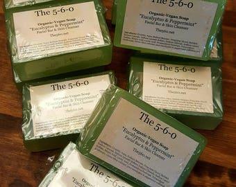 Organic-Vegan Eucalyptus & Peppermint Facial and Cleansing Bar