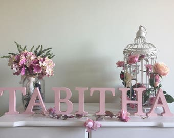 Freestanding letters/Personalised Gift/New Baby Gift/Nursery Decor/Christening Gift/Birthday Gift/Wooden Letters