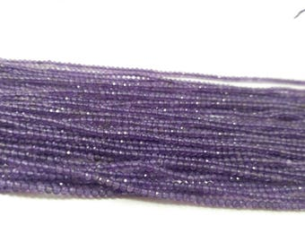 Lot of 5 Strands AAA 100% Natural Micro Amethyst Faceted Rondelle Beads Strands 2-2.5mm | Tiny Amethyst Beads | Natural Micro Amethyst Beads