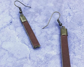 Leather drop earrings **FREE SHIPPING**