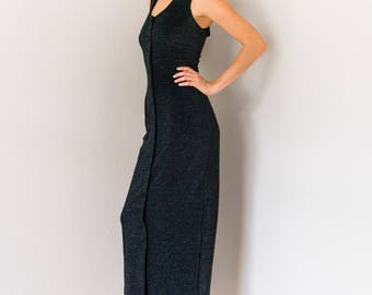 Vintage Rampage Stretchy Sparkle Maxi Dress Small S