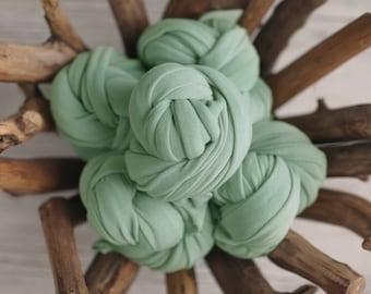 Seafoam Stretch Knit Wrap, Mint Stretch Knit Wrap, Newborn Photography Wrap, Newborn Photography Layers - RTS
