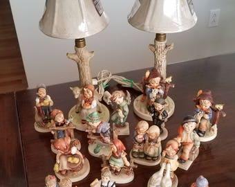 M.I. Hummel Goebel and Hummel Lamps Collection-Inc 2 lamps, 15 figurines - Bundle
