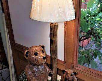 Hand made Teddy Bears Lamp - SOLD