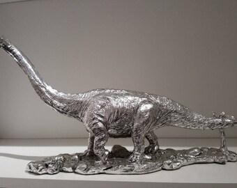 Diplodocus Dinosaur in Silver