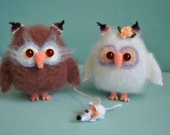 Crochet owl toy Tiny owl doll Miniature owl toy Stuffed owl toy Stuffed animal  Owl plushie Owl softie Home decoration Crochet bird toy