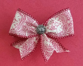 Hair Bow French Barrette