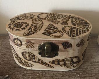 Handcrafted wooden trinket box