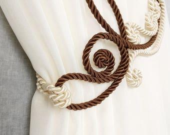 Rope tie back, Curtain decor, Curtain tiebacks, Drapery ties, Tie backs, Window treatments, Curtain accessories, Rope decor, Rope tiebacks