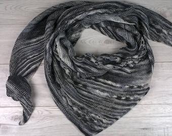 Knitted Shawl ,wool Shawl , Triangle Shawl , Bandana Scarf