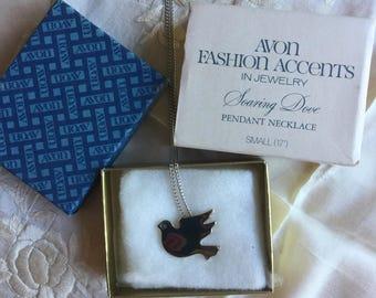 Avon NIB Soaring Dove Pendant Necklace