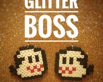 Mario Ghost pixel earrings