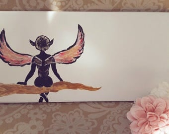 handcrafted fairy street sign