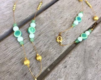 Under the Sea, Sea Glass Necklace