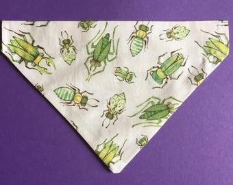 Green bugs dog bandana LARGE