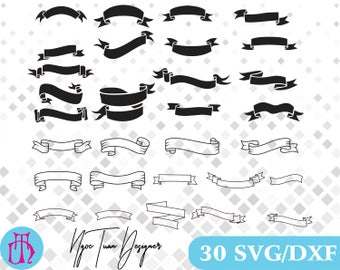Ribbon svg,dxf/Banner svg,dxf for Design,Silhouette,Cricut and any more