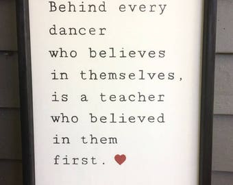 Dance Teacher Gift | Sign Gift | Dancer Gift | Custom Wood Sign